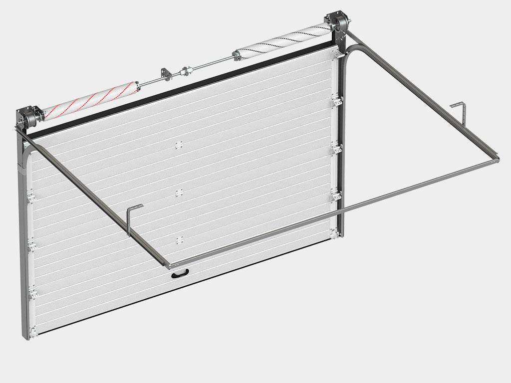 Полотно из энергоэффективных алюминиевых сэндвич-панелей толщиной 40 мм и с усилением под внутренние петли и боковые опоры.