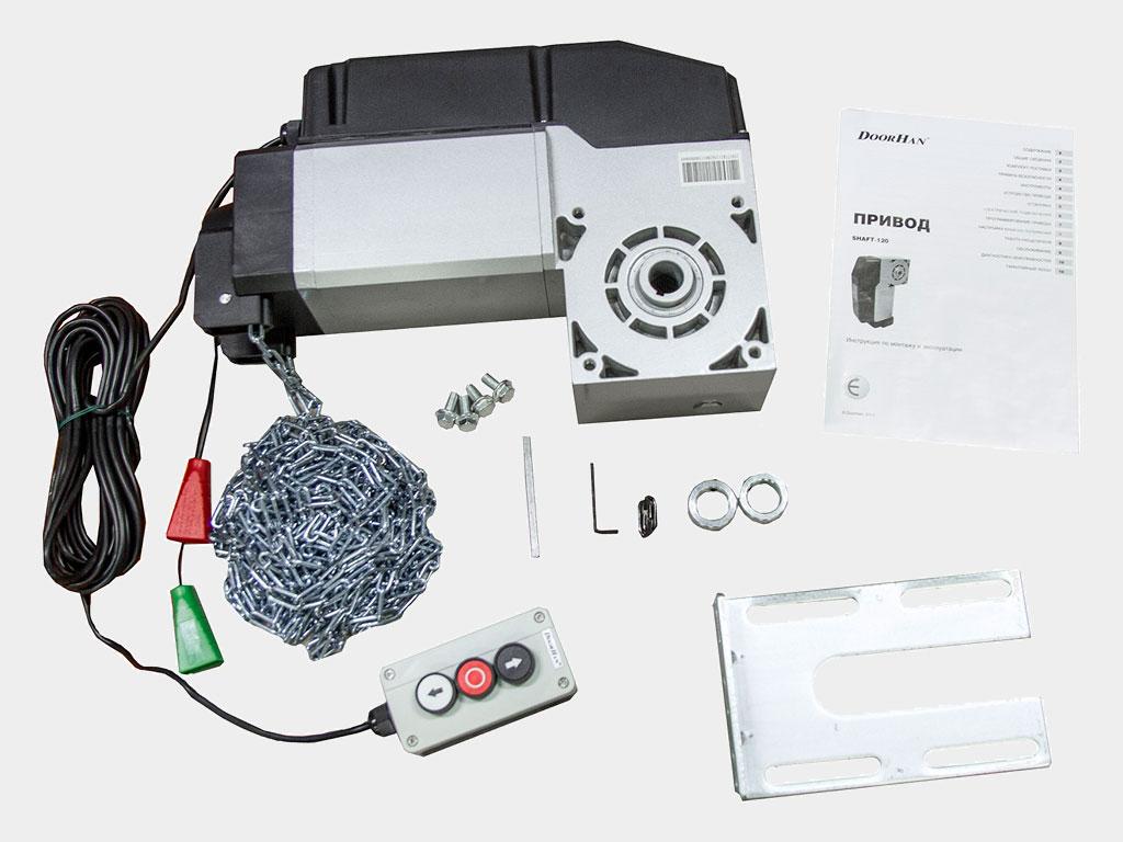 Электропривод со встроенным блоком управления, крепежные элементы для монтaжa