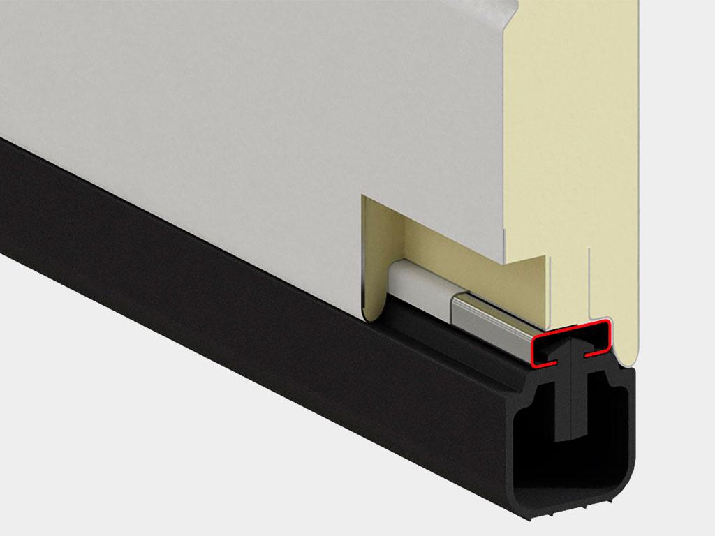 Встраиваемый профиль новой конфигурации с термоконтуром предотвращает промерзание панели