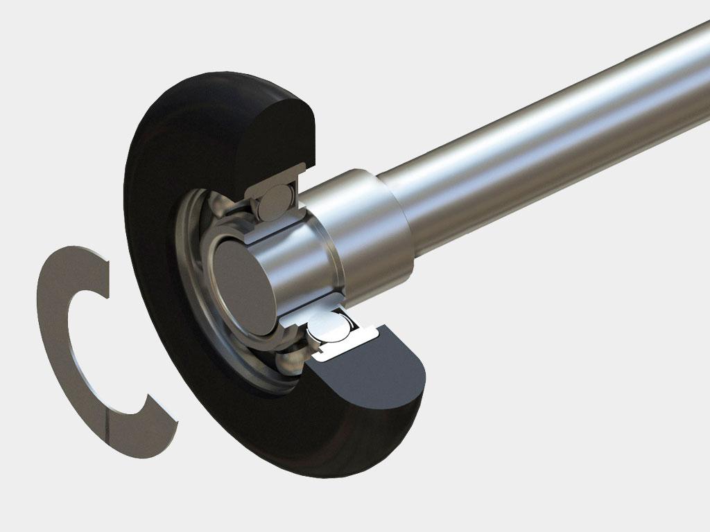 Новые ролики имеют закрытые подшипники, предотвращающие попадание пыли, что увеличивает их срок службы.