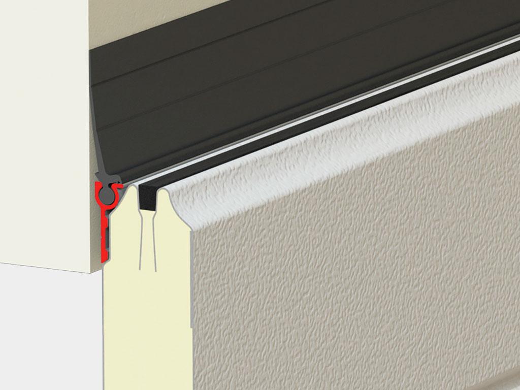 Односторонний верхний профиль позволяет сохранить терморазрыв панели