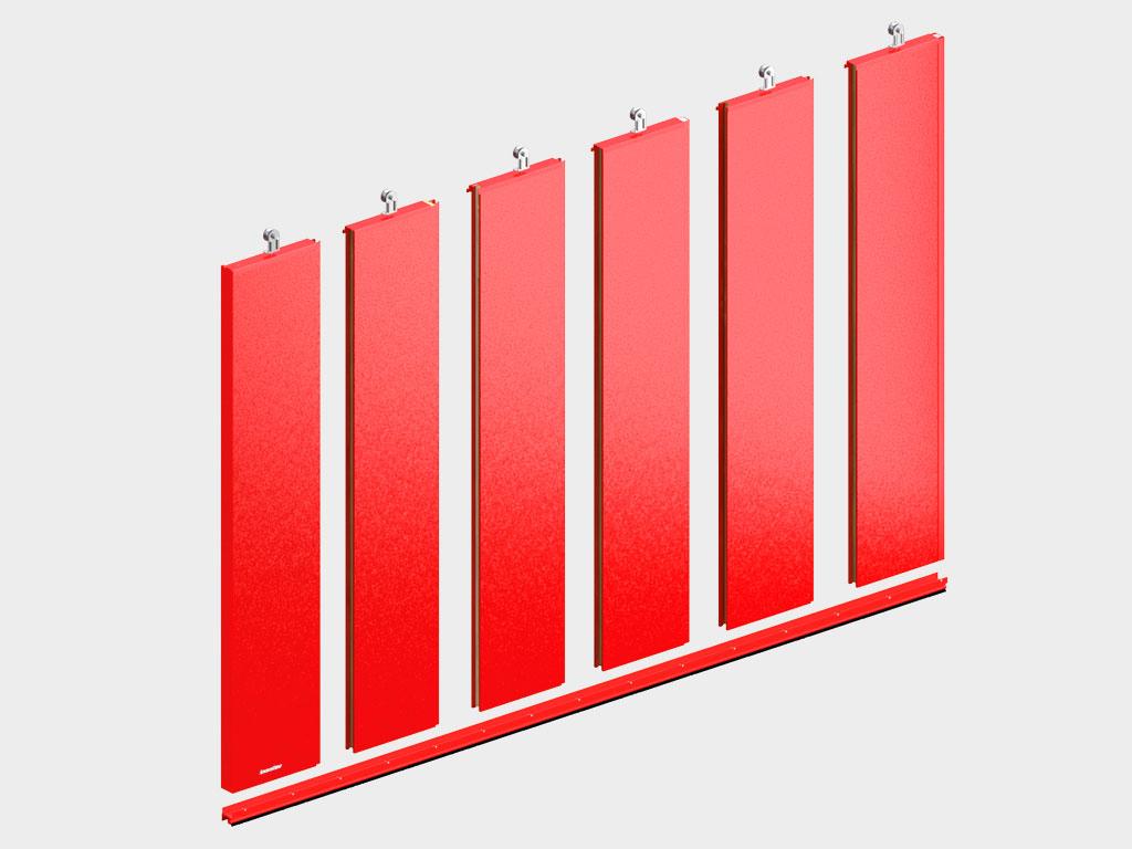 Полотно ворот толщиной 80 мм из стальных сэндвич-панелей с минеральной ватой