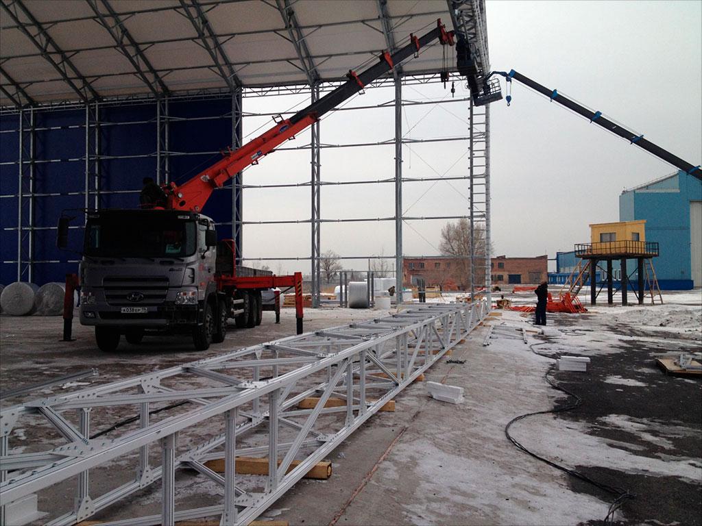 122 ворот для широкопролётных ангаров установлены на 57 объектах в России и странах СНГ за последние 15 лет