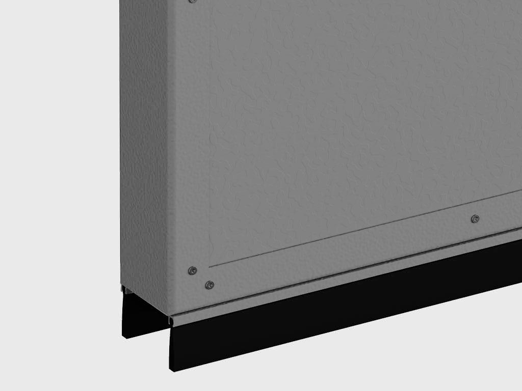 Щеточный уплотнитель позволяет предотвратить потери тепла или охлажденного воздуха изнутри помещений и защищает от проникновения пыли внутрь. Уплотнитель легко работает по любой поверхности и не портит ее.