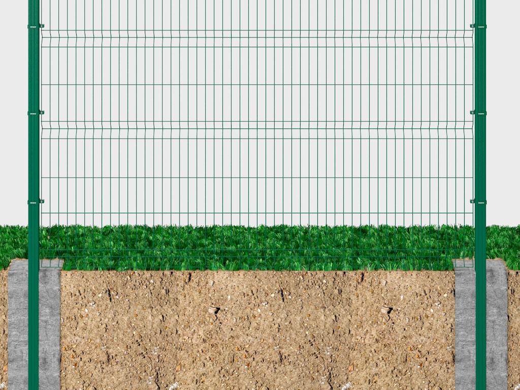Бетонирование опор. Cамый простой и экономичный способ установки, при котором опора бетонируется в грунт. ДорХан