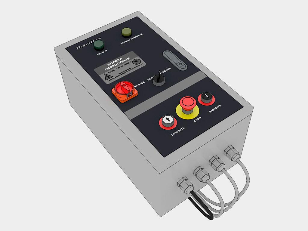 Блок управления с частотным преобразователем в стальном окрашенном корпусе, 300 х 400 х 150 мм; класс защиты — IP54 ДорХан
