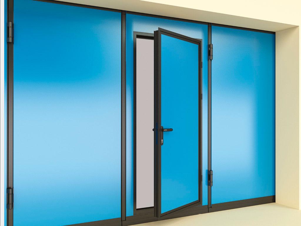 Калитка-в-алюминиевой-раме.-Стандартный-цвет-рамы-—-RAL-9005-(черный).