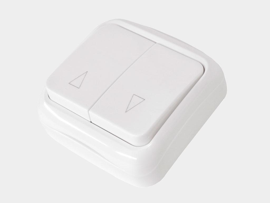 Двухпозиционный клавишный выключатель накладной для управления приводом в обе стороны движения ДорХан