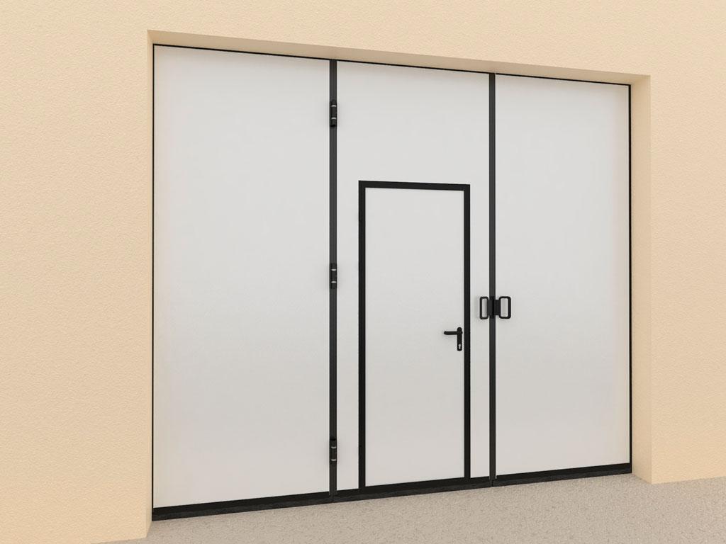Калитка в алюминиевой раме. Стандартный цвет рамы — RAL 9005 (черный). ДорХан