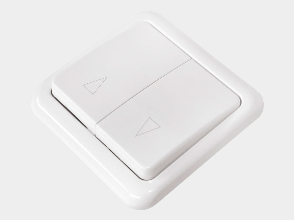 Клавишный двухпозиционный выключатель встраиваемый для управления приводом в обе стороны движения ДорХан