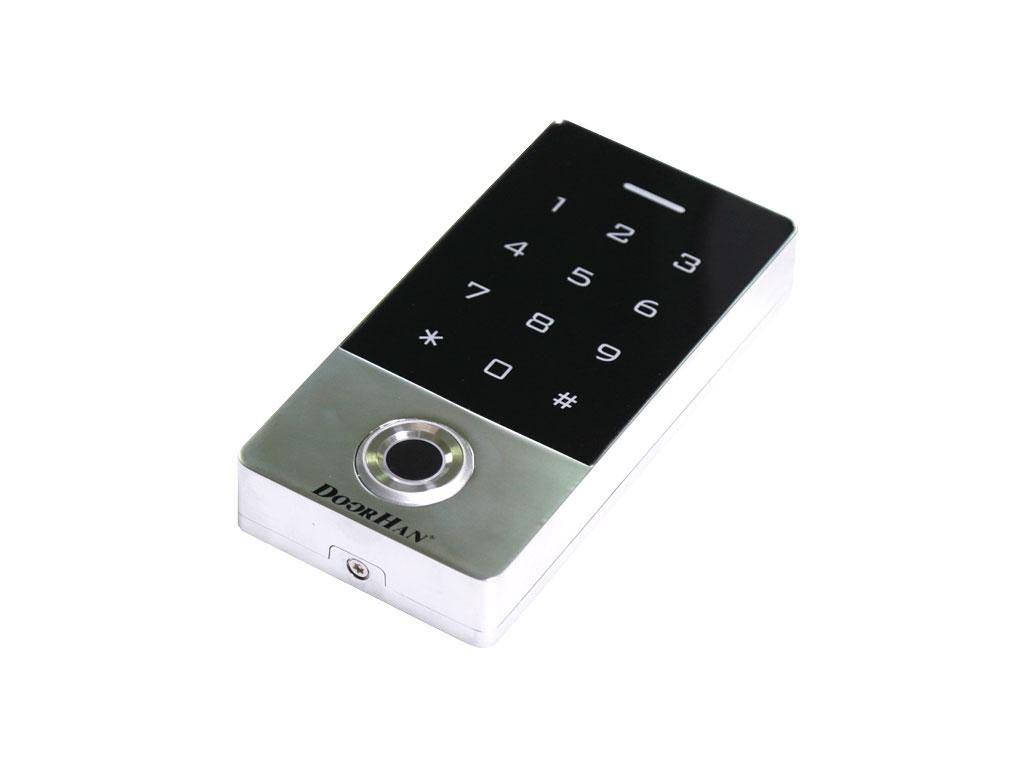 Кодовая клавиатура KEYFREM со встроенным считывателем отпечатков пальцев и карт ДорХан