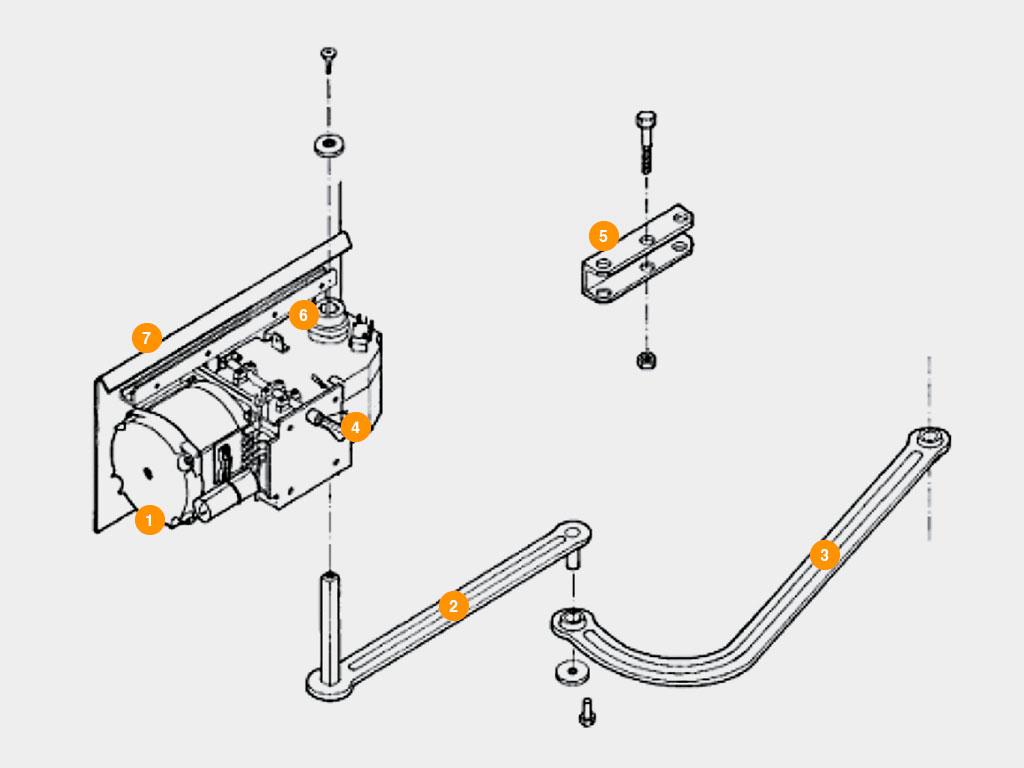 Конструкция-Привод-Arm-320-PRO-для-распашных-ворот Дорхан