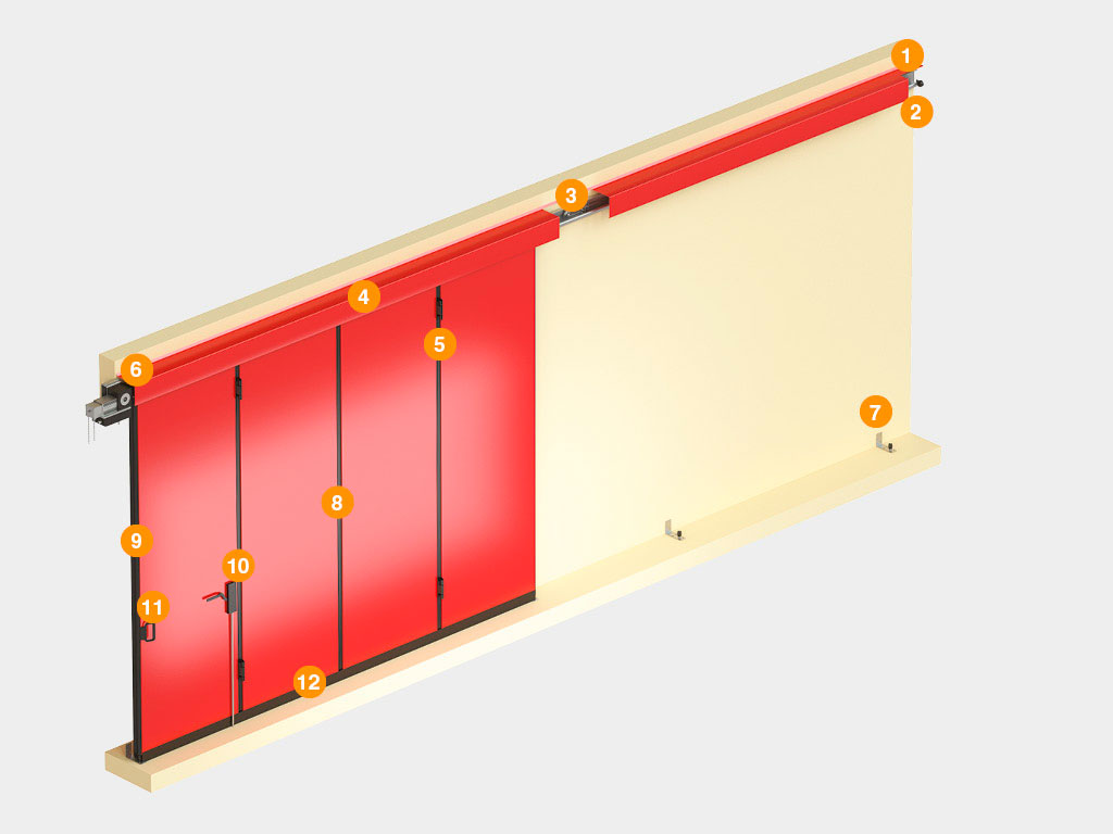 Конструкция-Промышленные-откатные-ворота-без-нижней-направляющей ДорХан