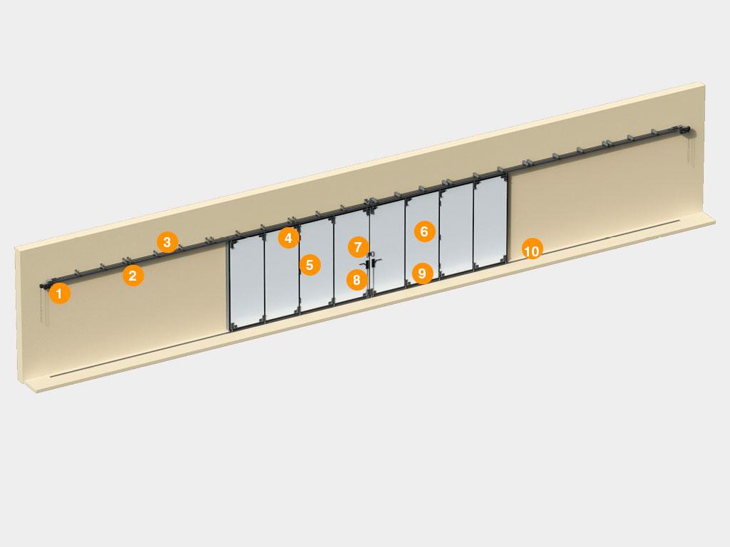 Конструкция-Промышленные-откатные-ворота-с-нижней-направляющей ДорХан