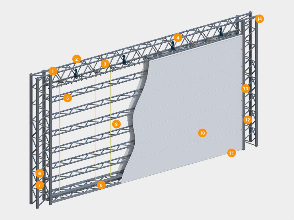 Конструкция авиационных ворот ДорХан