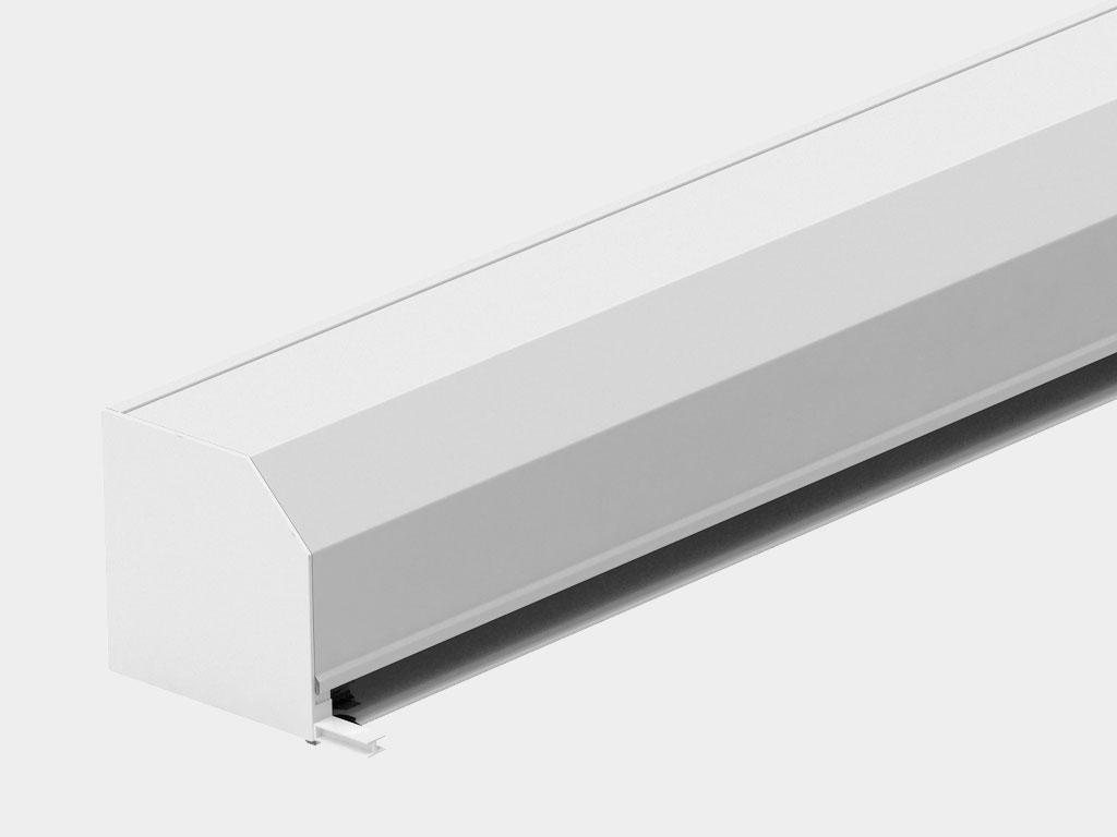 Короб в сборе. Представляет собой собранный защитный короб с боковыми крышками, валом и капсулами, механизмом управления — ручным или автоматическим.
