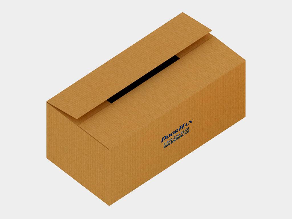 Коробка с комплектацией для монтажа, инструкцией и паспортом на изделие ДорХан
