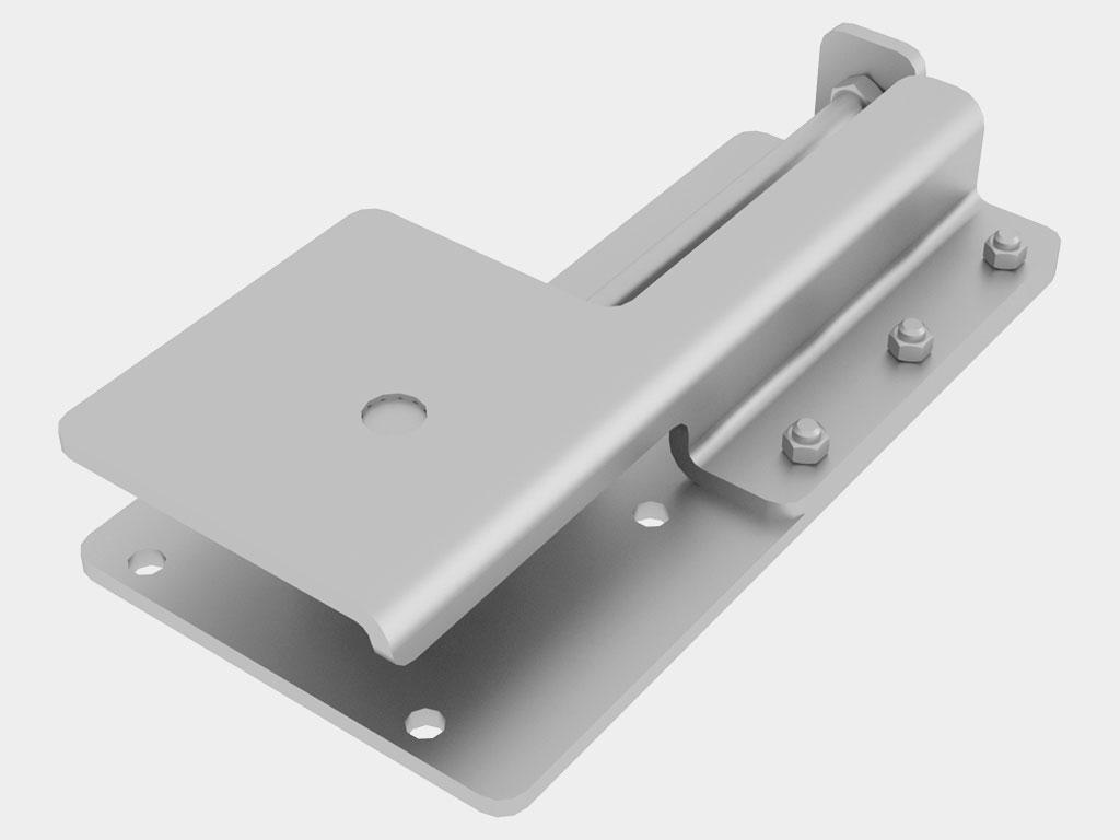 Кронштейн крепления привода позволяет отрегулировать натяжение цепи. ДорХан