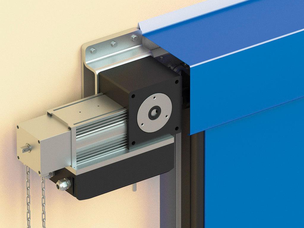 Кронштейн крепления привода с возможностью натяжения цепи и усиленным корпусом обеспечивает надежность эксплуатации. ДорХан
