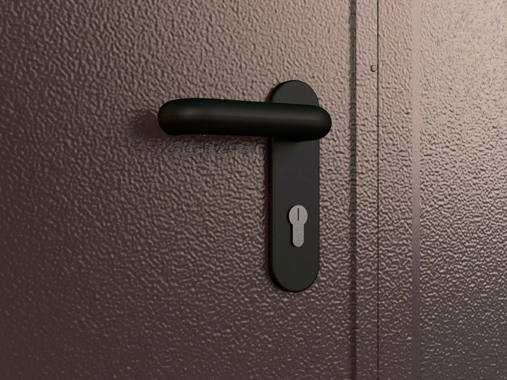 Механический замок позволяет запирать ворота как с внешней, так и внутренней стороны. ДорХан
