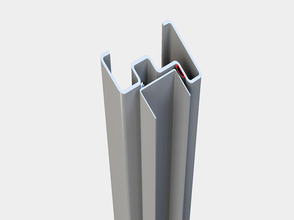 Модернизированный стальной профиль и уплотнитель по контуру проёма повышают герметичность ДорХан