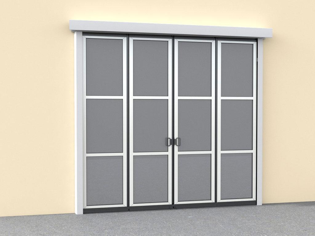 Монтаж на внешней стороне стены подходит в том случае, когда условия внутри здания более жесткие, чем снаружи или при дефиците свободного пространства внутри здания. ДорХан