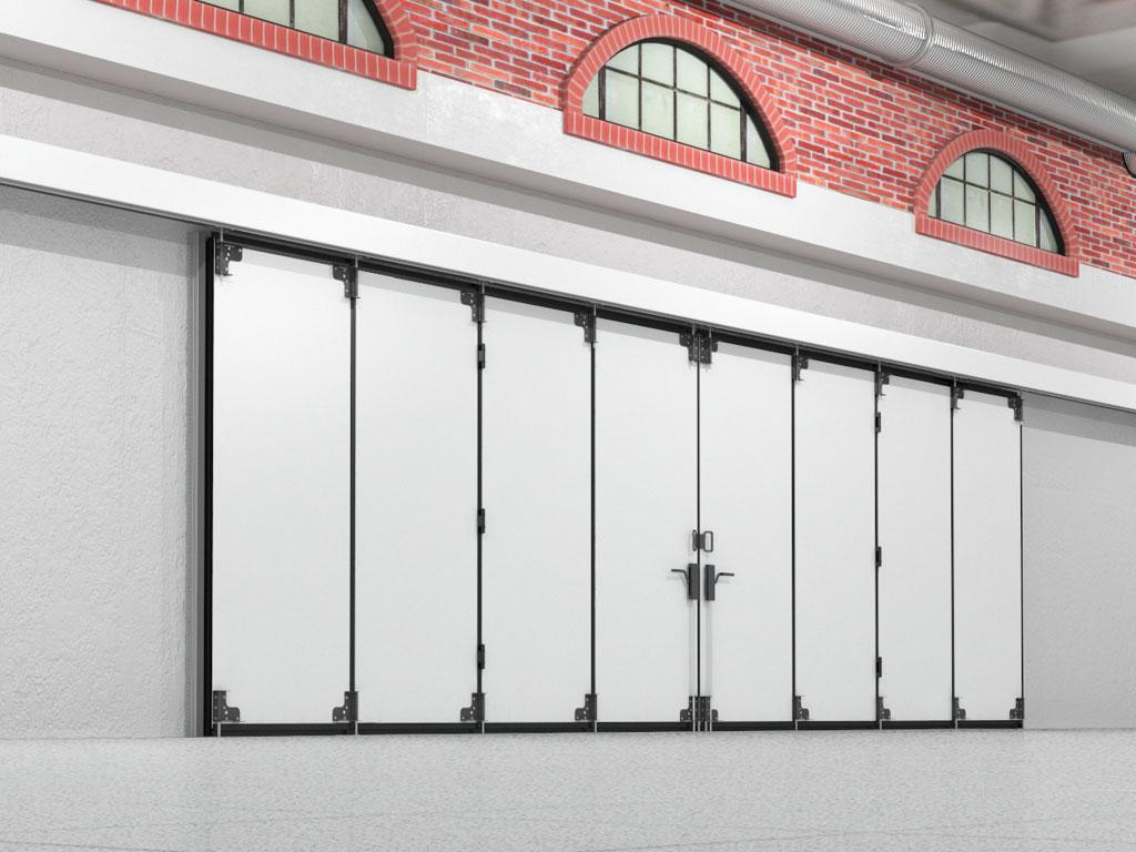 Монтаж на внутренней стороне стены рекомендуется, когда позволяют характеристики проема. При этом механизм привода и направляющие полностью защищены. ДорХан