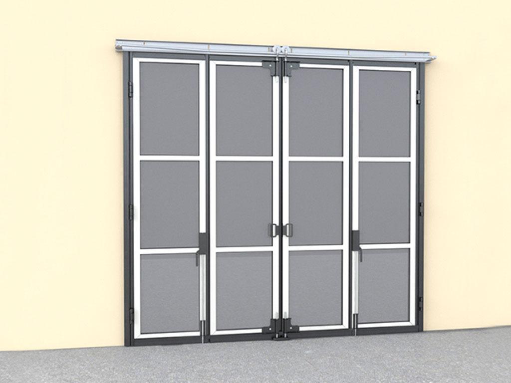 Монтаж на внутренней стороне стены рекомендуется, когда позволяют характеристики проема. При этом механизм привода и направляющие полностью защищены и недоступны посторонним лицам. ДорХан