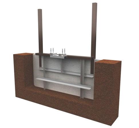 На уровне нижней части ворот к раме крепятся опорные ролики ДорХан