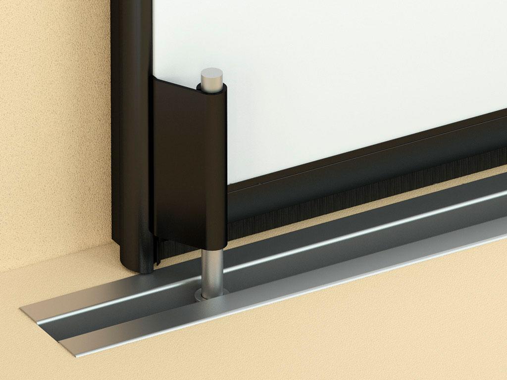 Надежная-нижняя-направляющая-обеспечивает-высокую-ветровую-устойчивость-ворот-и-плавное-перемещение-полотна. ДорХан