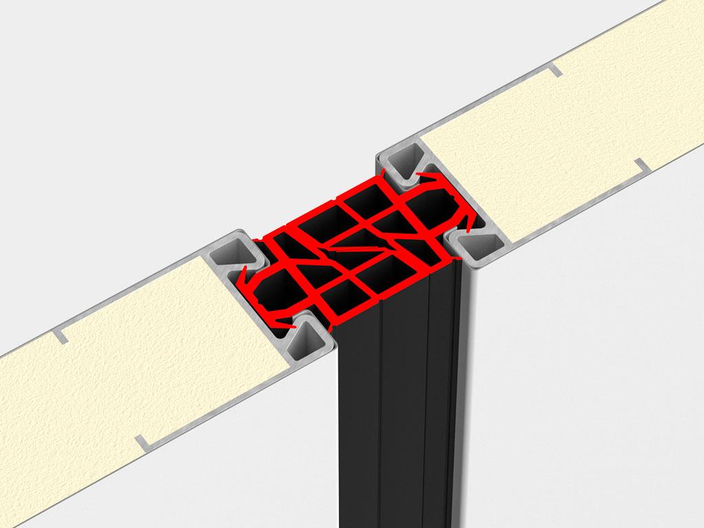 Новая геометрия шипового уплотнителя позволяет улучшить герметизацию стыков сэндвич-панелей и исключить образование сквозных просветов на полотне ворот. ДорХан