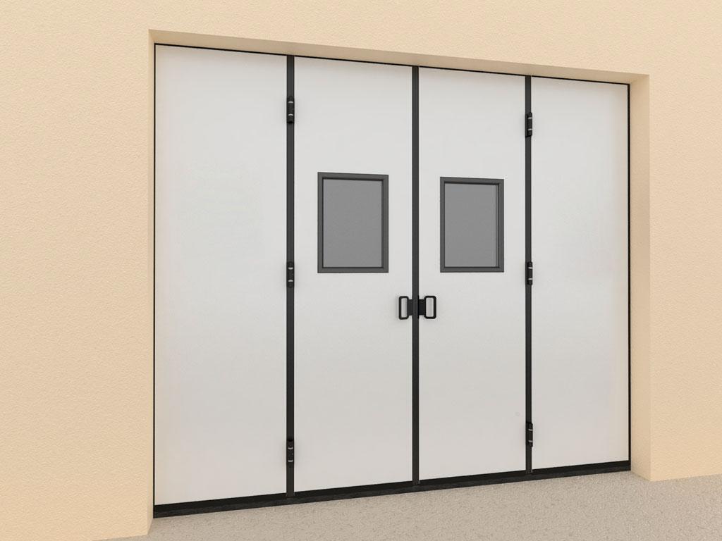 Окно в алюминиевой раме с заполнением прозрачным поликарбонатом толщиной 3 мм. Стандартный цвет рамы — RAL 9005 (черный). ДорХан