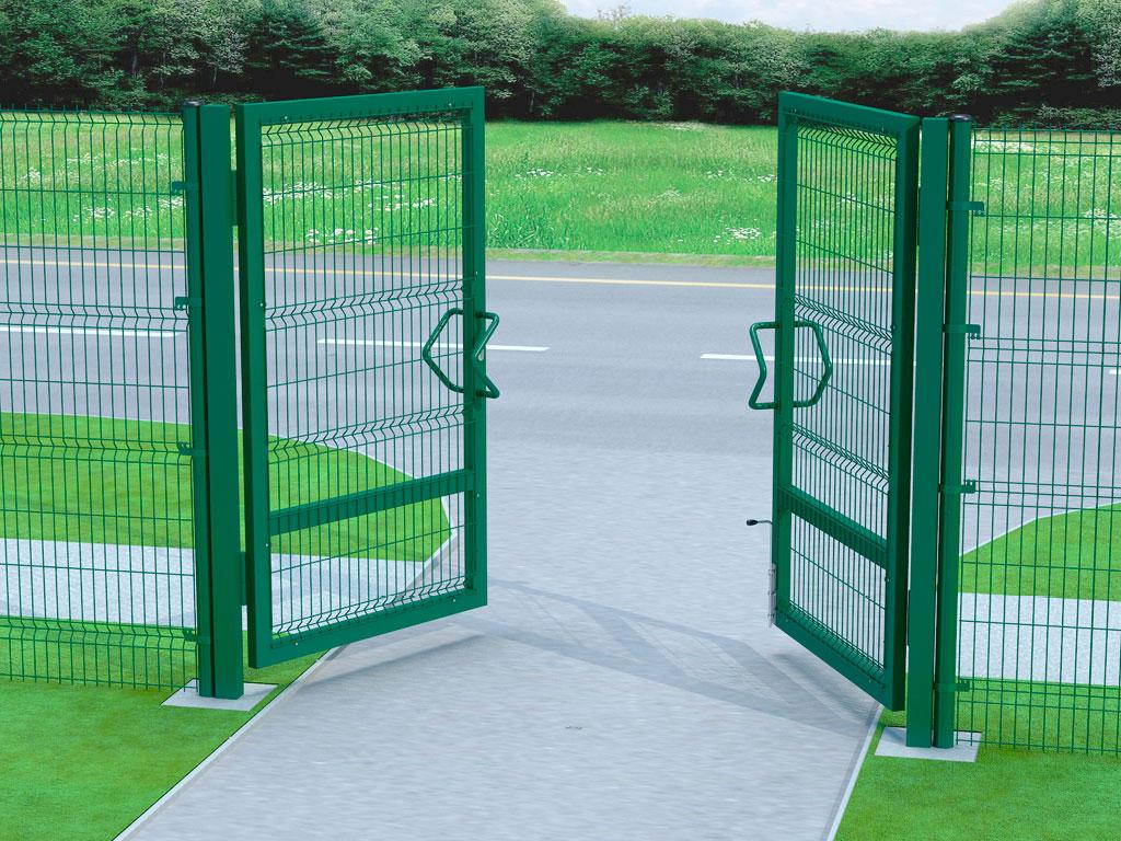 Открытие ворот наружу. Направление определяется наблюдателем внутри огороженной территории. ДорХан