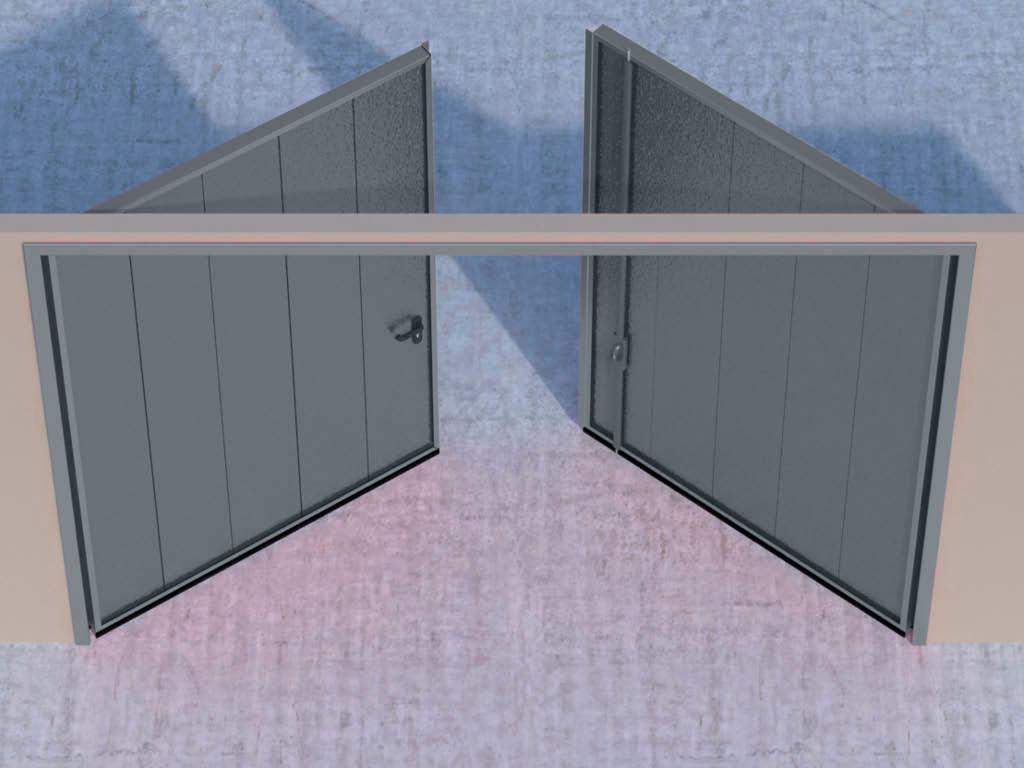 Открывание створок наружу помещения — левая створка активная, правая пассивная. ДорХан