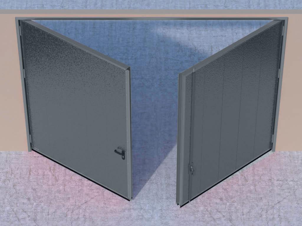 Открывание створок внутрь помещения — левая створка активная, правая пассивная. ДорХан