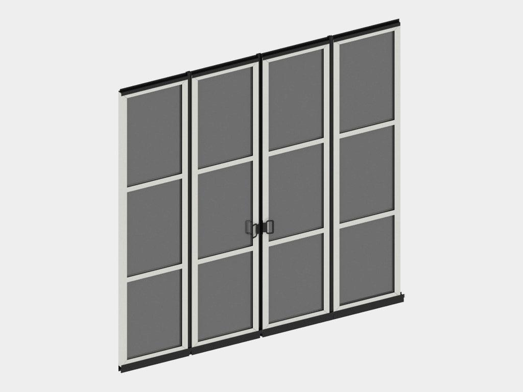 Полотно ворот из панелей с различными вариантами заполнения. ДорХан