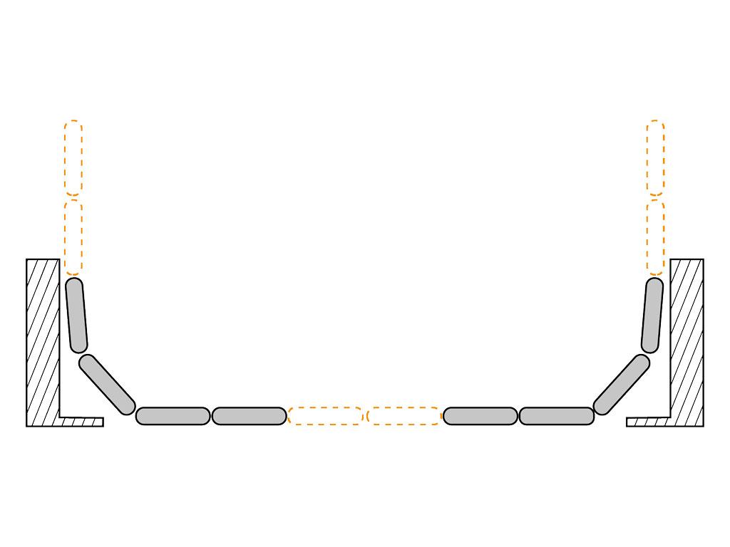Раскатывание полотен по радиусу закатных ворот ДорХан