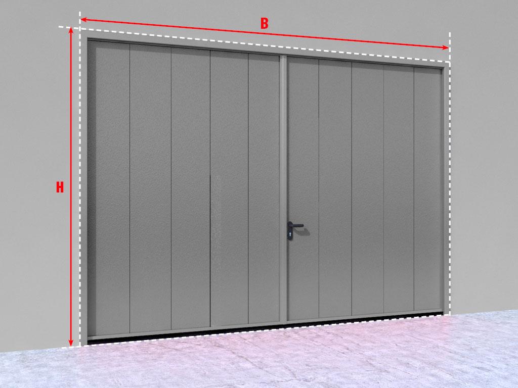 Распашные гаражные ворота без калитки ДорХан