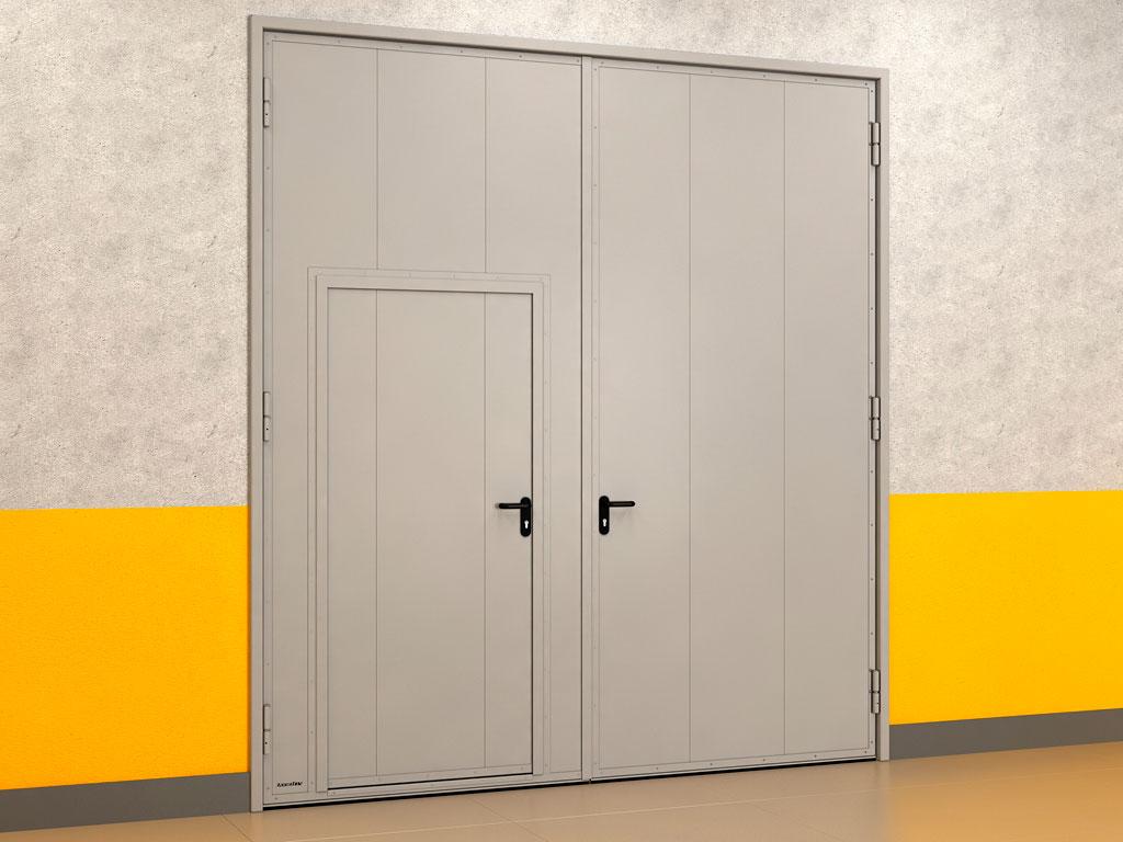 Распашные гаражные ворота устанавливаются врезным монтажом ДорХан