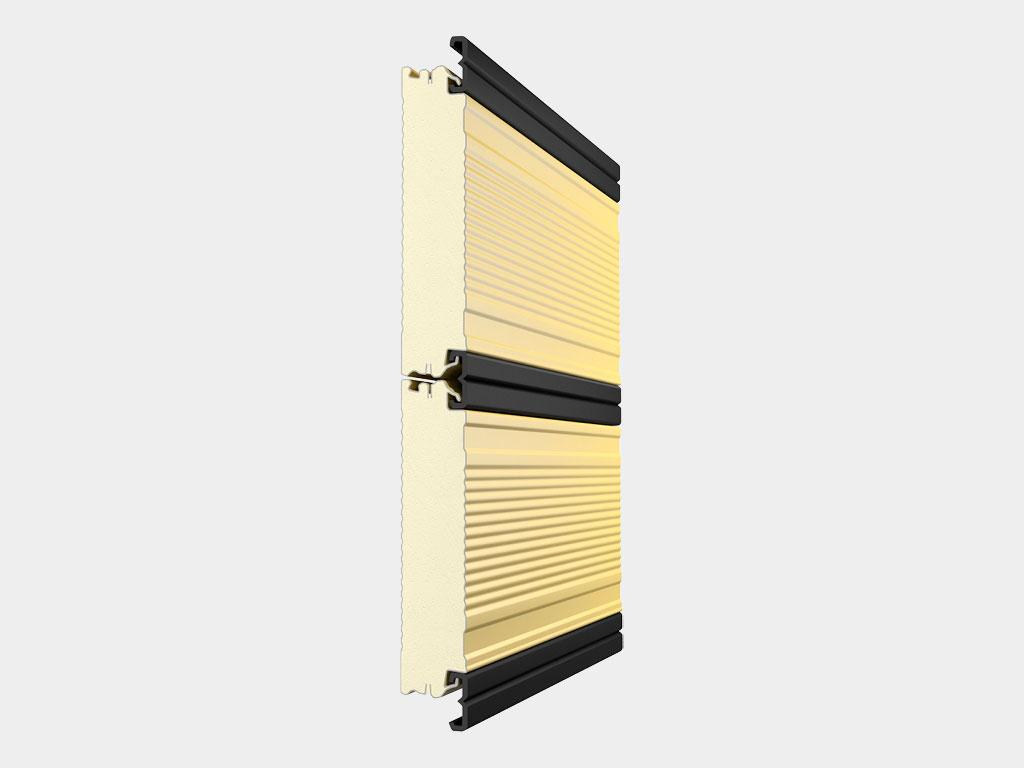 Резиновый уплотнитель соединяет панели между собой, замыкая тепловой контур ДорХан