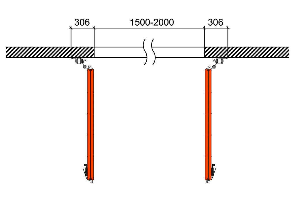 Схема открывания 1 + 1 ДорХан