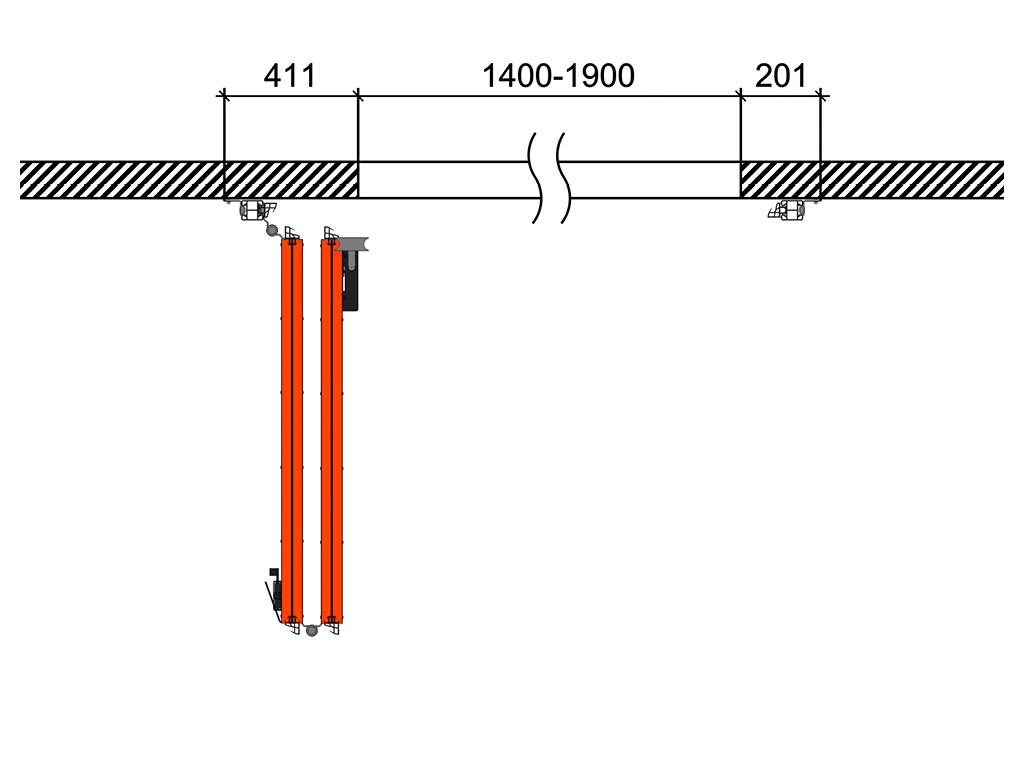 Схема открывания 2 + 0 ДорХан