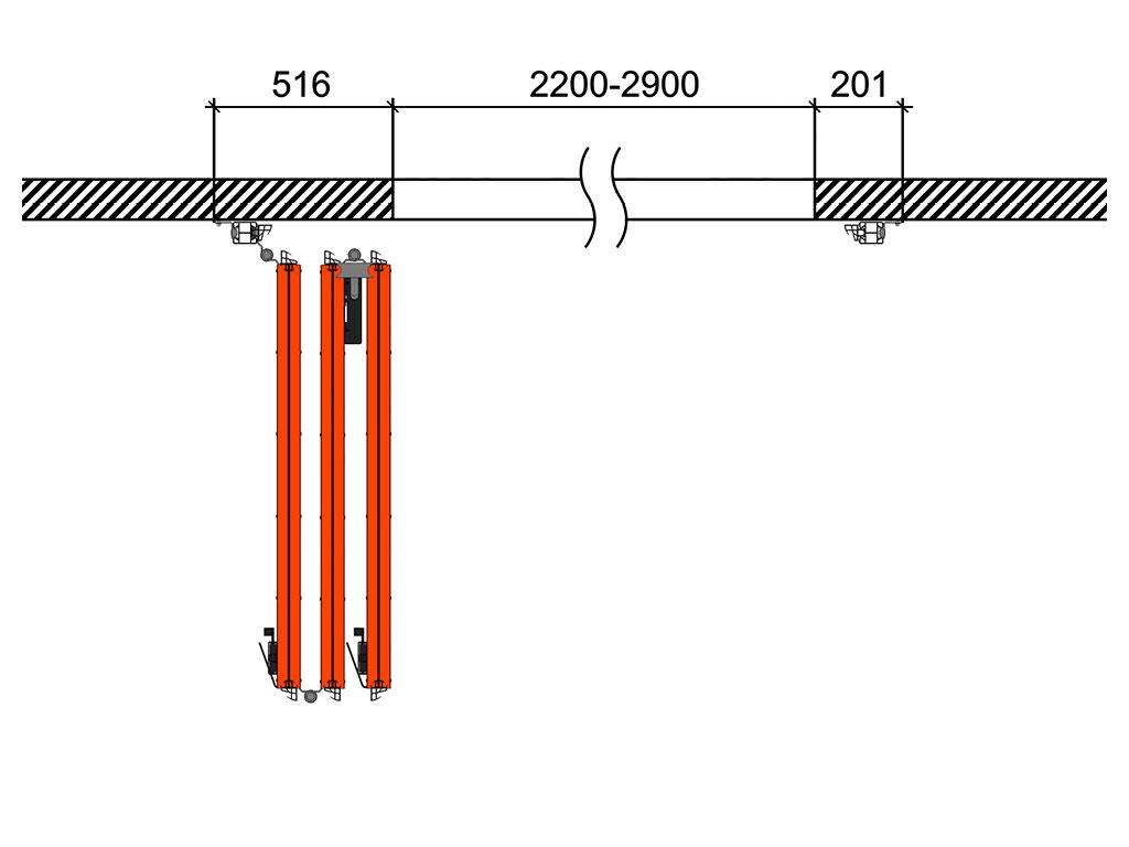 Схема открывания 3 + 0 Д