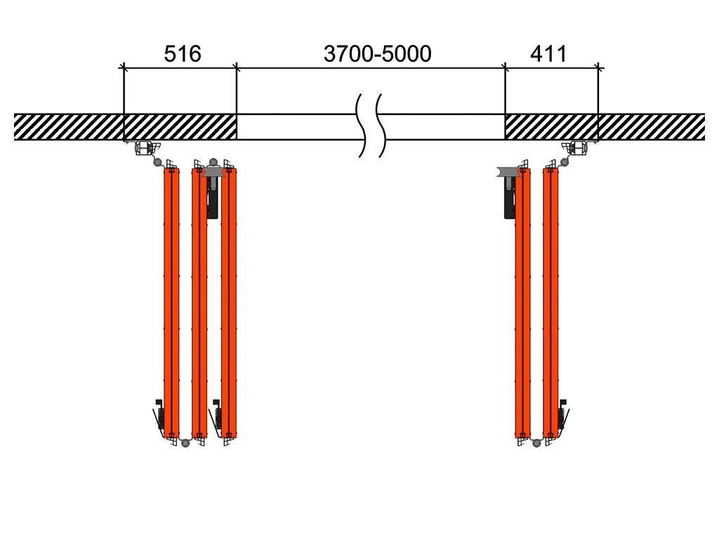 Схема открывания 3 + 2 ДорХан