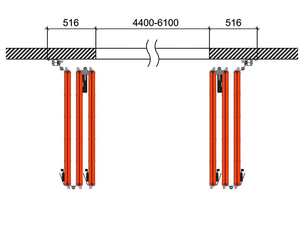 Схема открывания 3 + 3 ДорХан