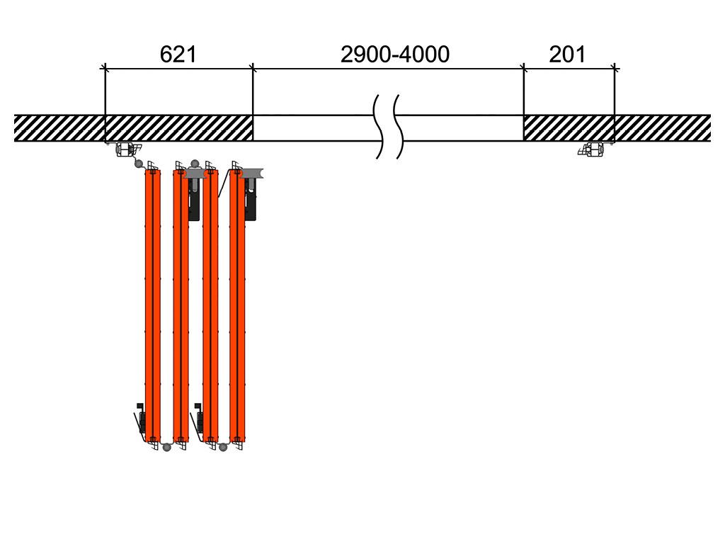 Схема открывания 4 + 0 ДорХан