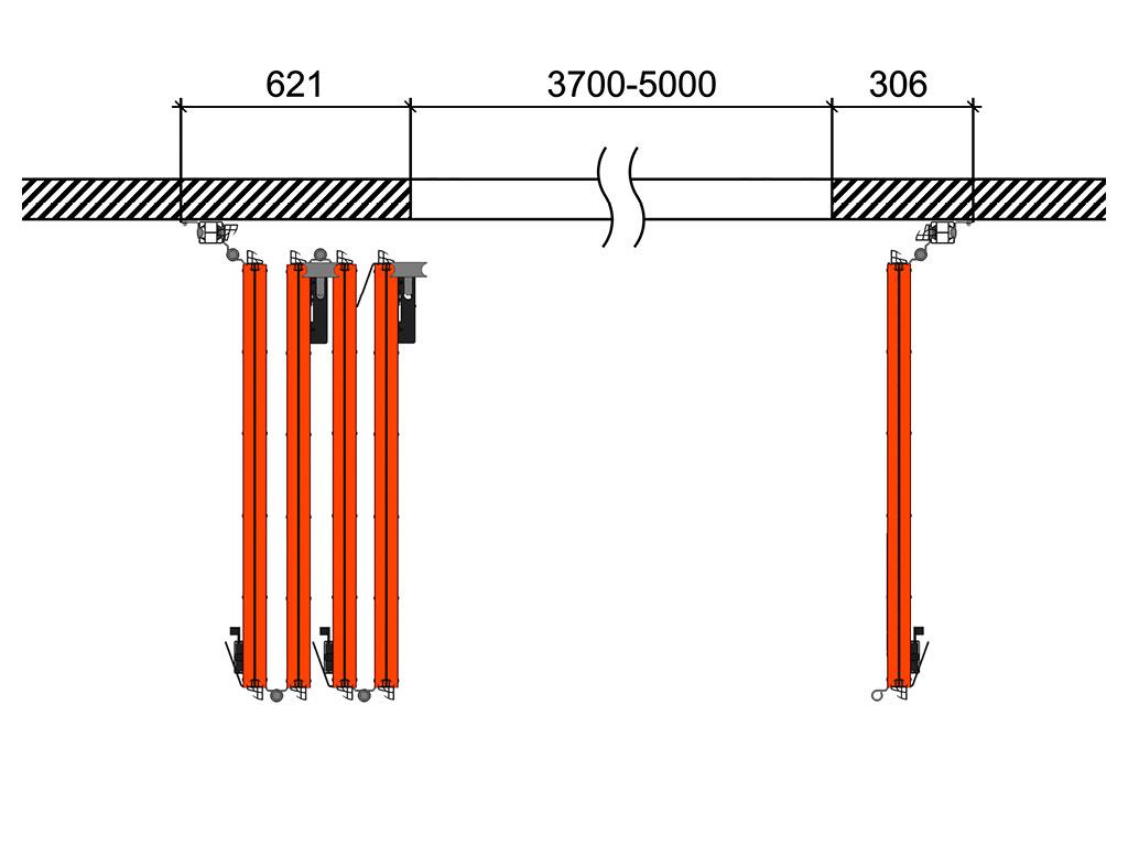 Схема открывания 4 + 1 ДорХан