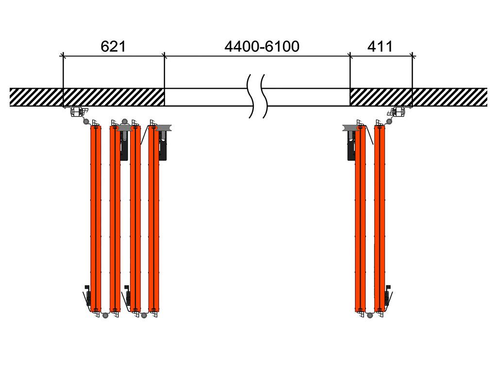 Схема открывания 4 + 2 ДорХан