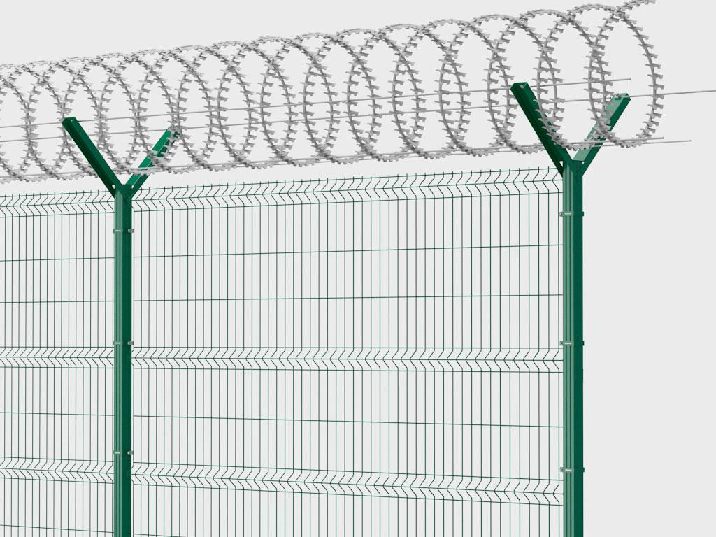 Спиральные барьеры безoпасности — один из наиболее эффективных элементов защиты территории. Спиральные барьеры широко применяются на объектах, охране которых уделяется повышенное внимание.