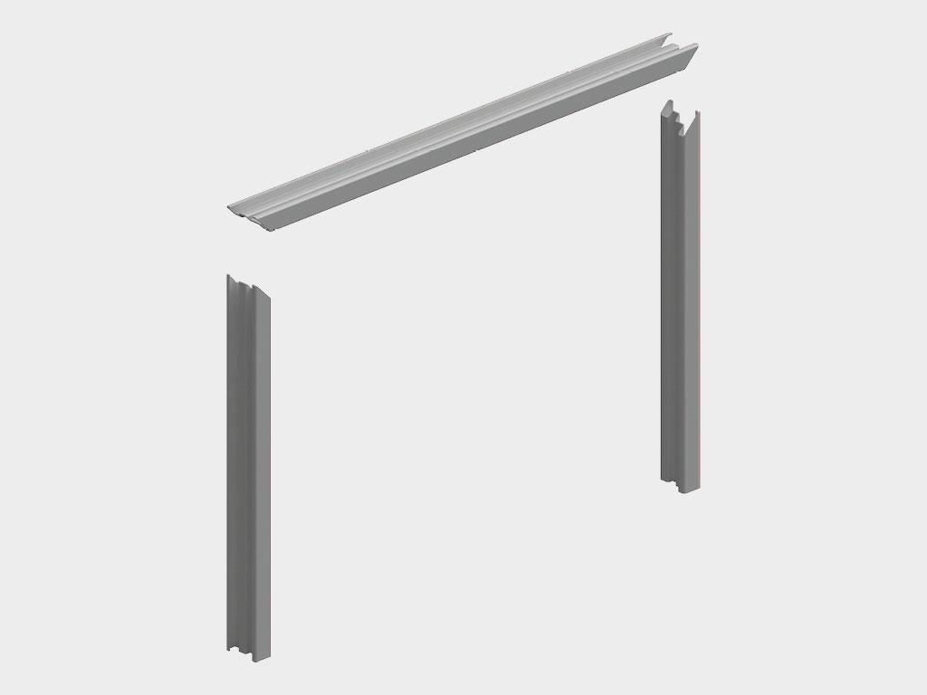 Стальная рама поставляется разобранной (два вертикальных профиля, один горизонтальный). ДорХан